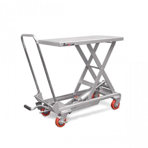 铝合金脚踏式升降平台车
