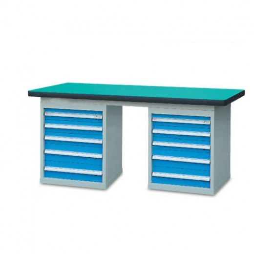 双侧柜重型工作桌