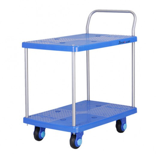 塑料平板手推车(二层)